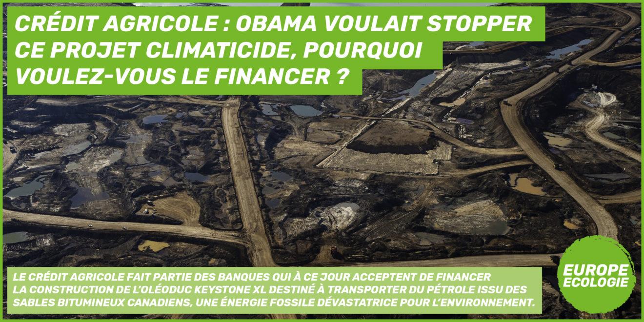 Droits humains et climat : le Crédit Agricole ne doit pas financer l'oléoduc Keystone XL