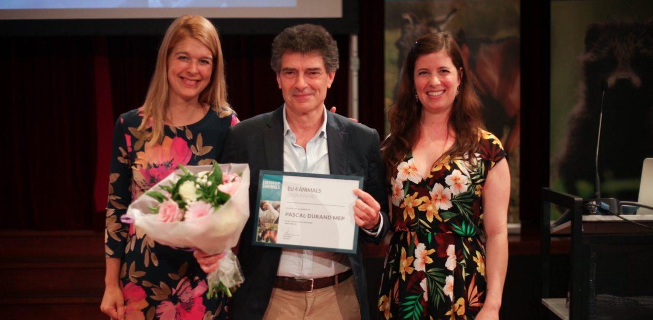Protection des animaux : Pascal Durand honoré par l'Eurogroupe pour le bien-être animal