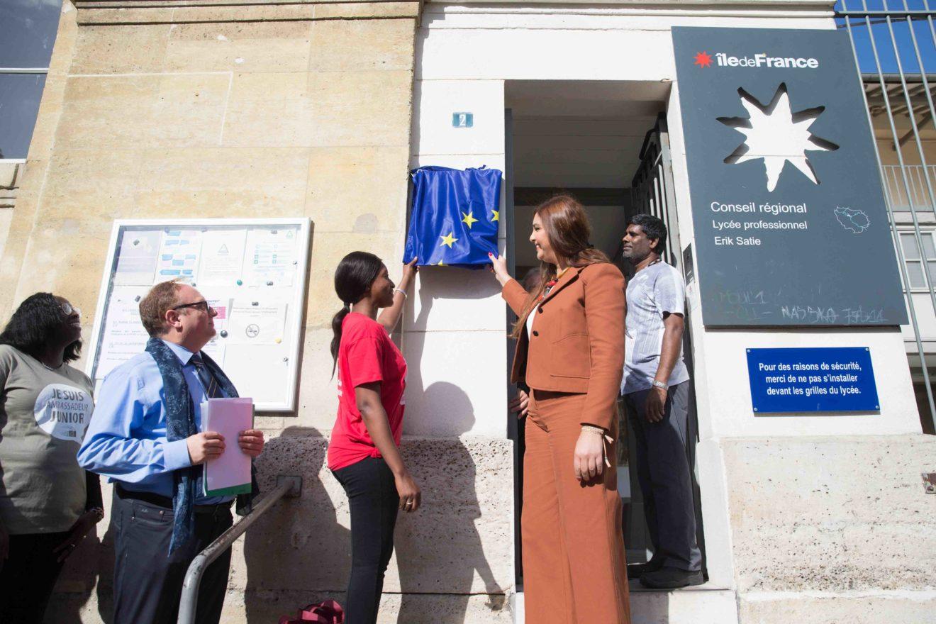 Le lycée Erik Satie (Paris) rejoint le programme  école Ambassadrice du Parlement Européen