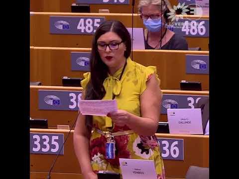 Salima Yenbou en plénière au Parlement européen