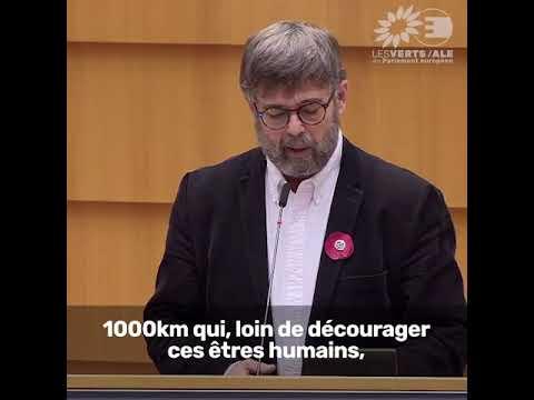 Intervention de Damien Carême sur la situation humanitaire des réfugiés aux frontières de l'UE