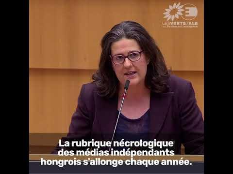 Gwendoline Delbos-Corfield sur la liberté de la presse en Hongrie